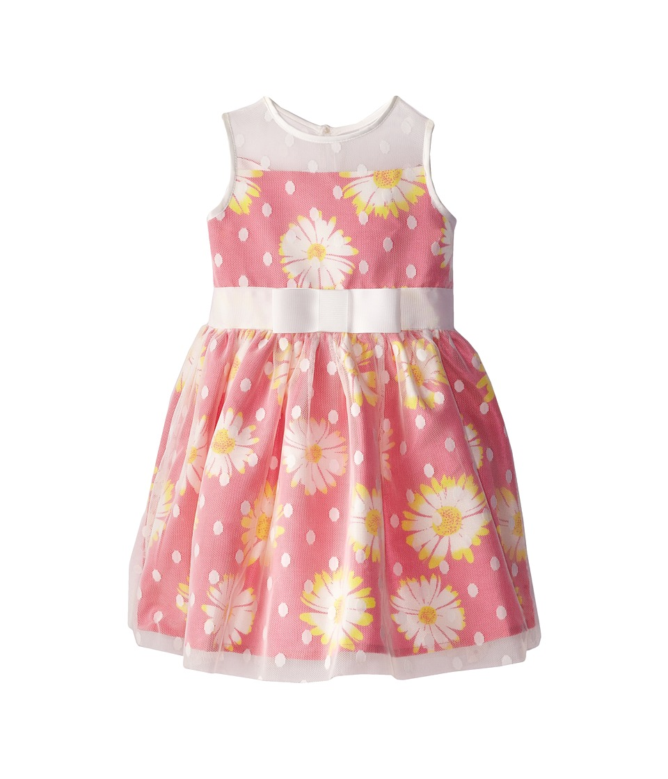 Us Angels - Sleeveless Illusion Dress w/ Full Skirt (Toddler) (Parfait) Girl