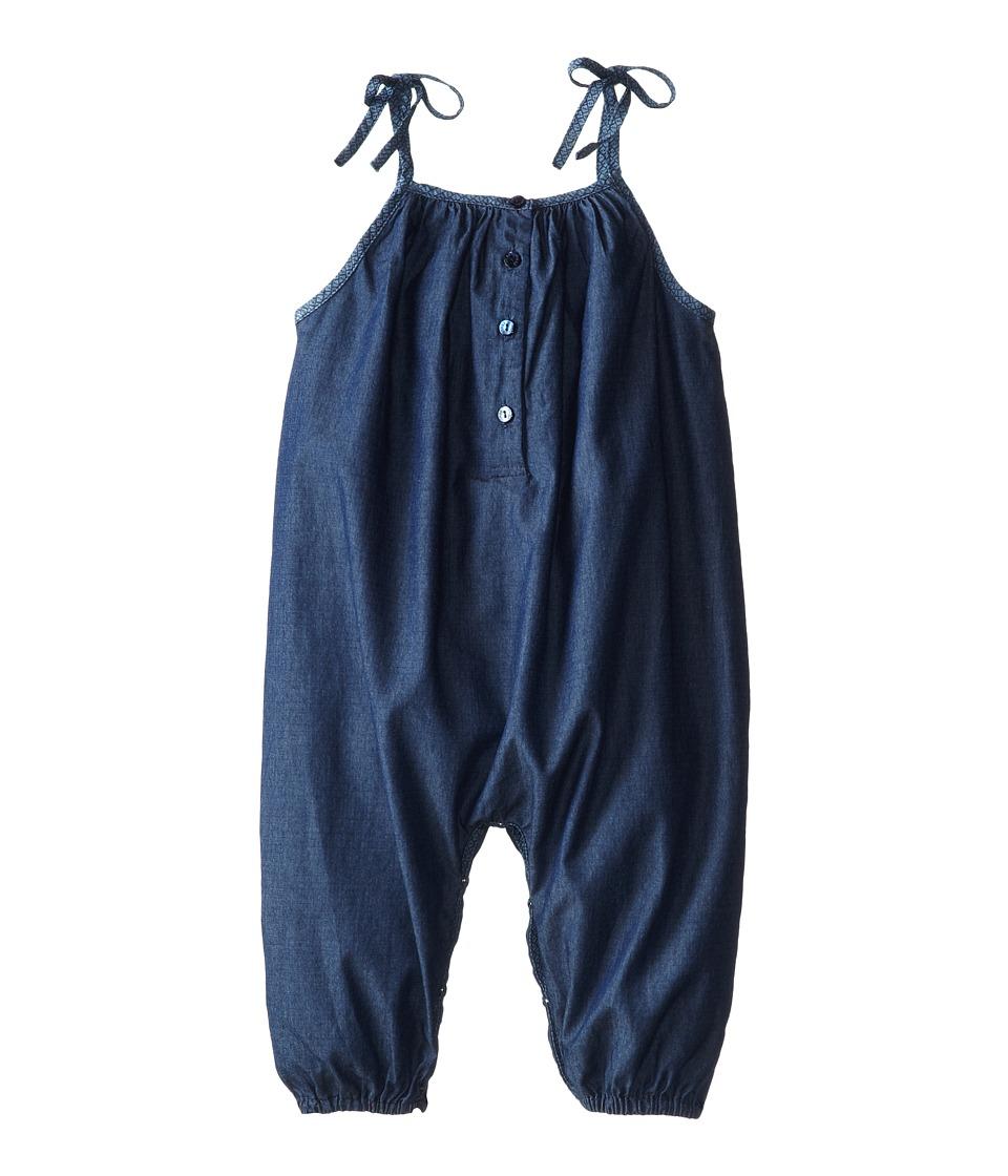 Fendi Kids - Sleeveless Jumpsuit (Infant) (Dark Denim) Girl's Jumpsuit & Rompers One Piece