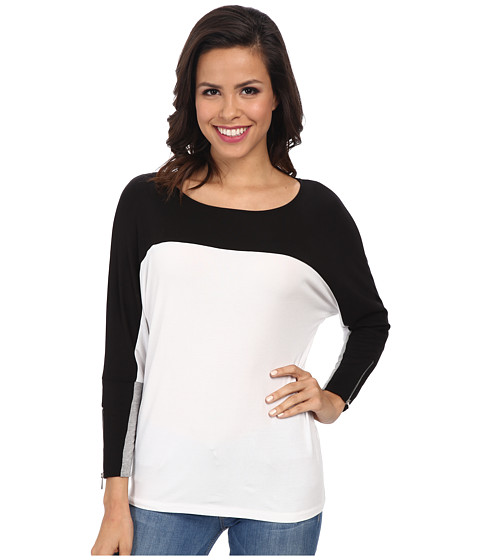 Calvin Klein - Color Block Dolman (Black) Women