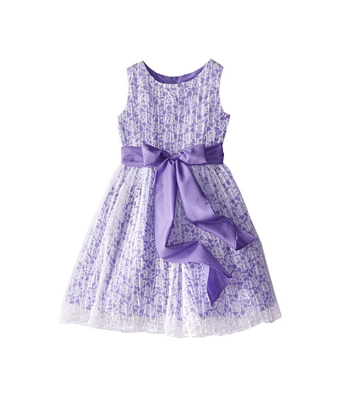 Us Angels - Sleeveless Tank Dress w/ Tie Back (Little Kids) (Lavendar) Girl's Dress