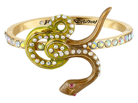 Betsey Johnson - Queen Bee Snake Hinged Bangle Bracelet (Multi) Bracelet