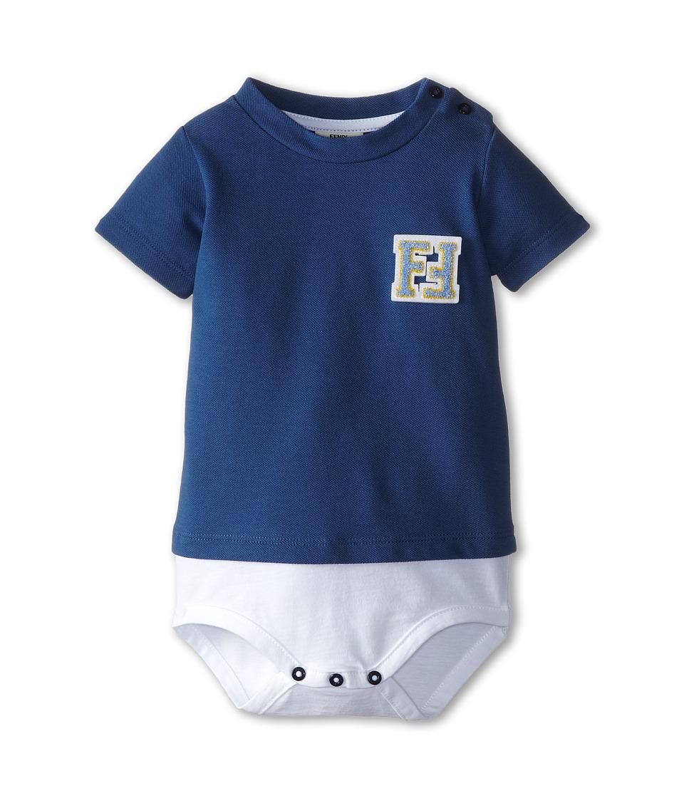 Fendi Kids - Short Sleeve Body (Infant) (Navy/White) Kid