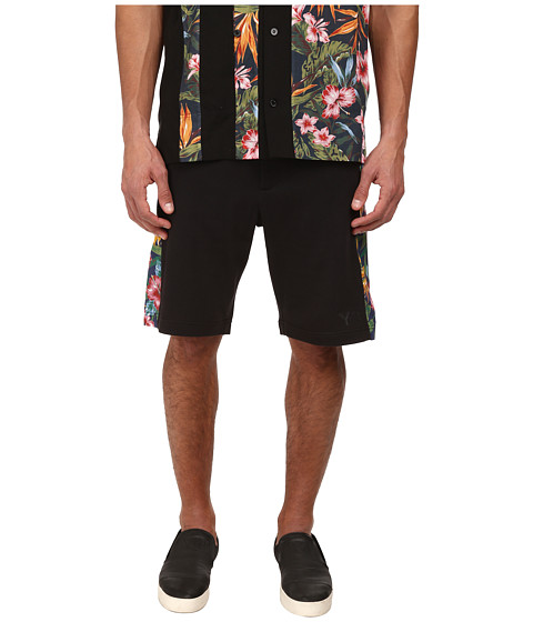 adidas Y-3 by Yohji Yamamoto - Basic Beachshorts (Black/Aop Flower 2) Men's Shorts