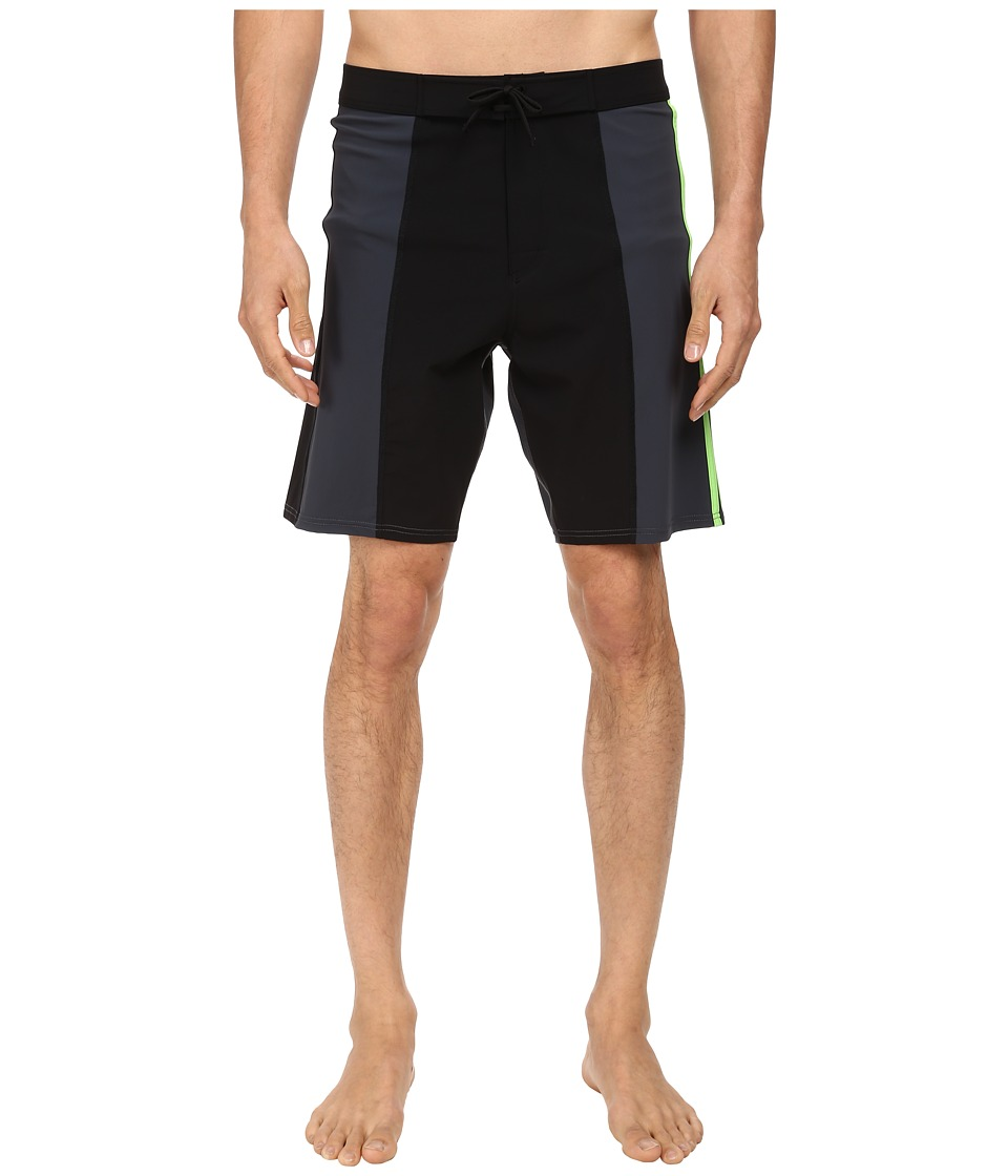 adidas Y-3 by Yohji Yamamoto - Basic Bermuda Shorts (Black/Dark Grey Heather Solid Grey) Men