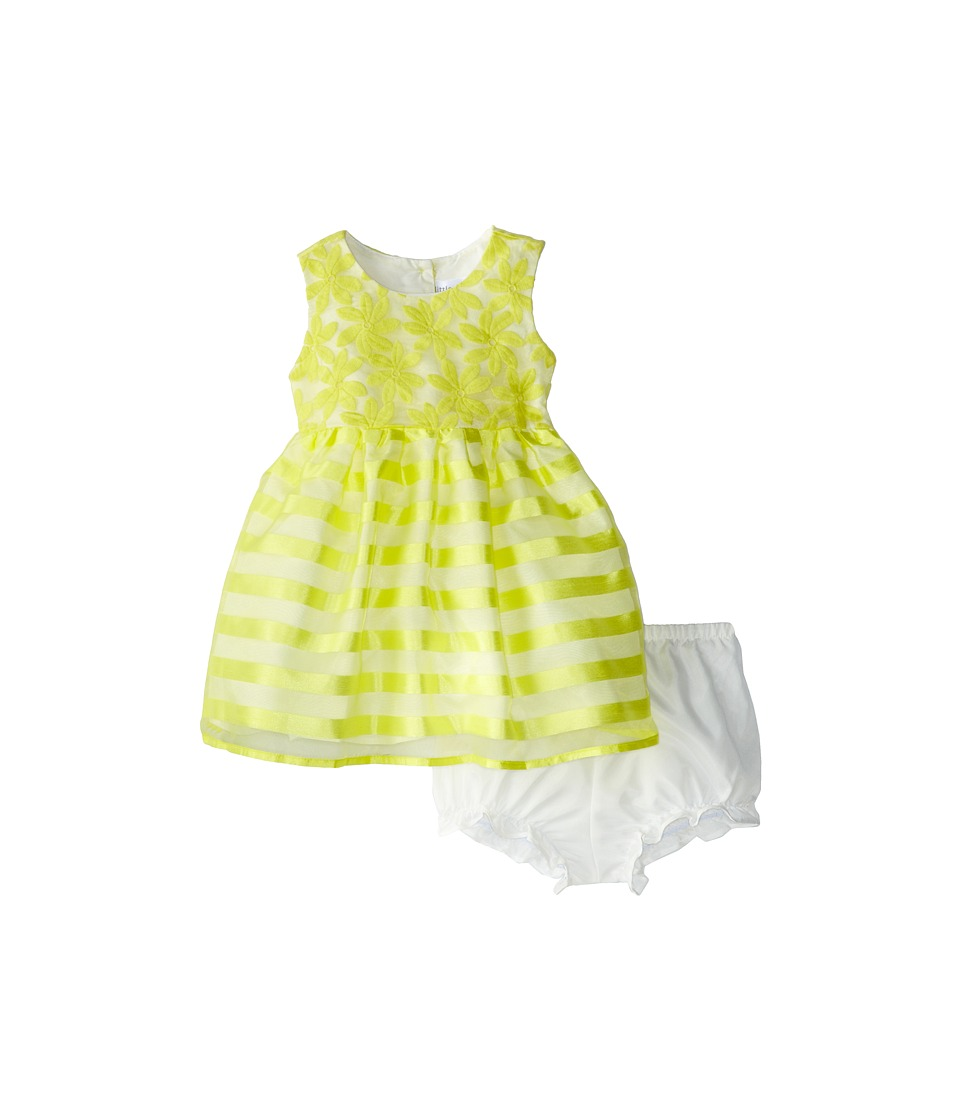 Us Angels - Sleeveless Waist Bodice w/ Full Skirt (Infant) (Yellow) Girl's Dress
