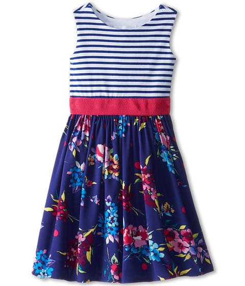 Us Angels - Tank Dress w/ Elastic Waist Full Skirt (Little Kids) (Navy) Girl