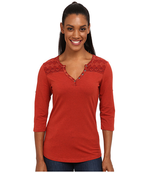 Kuhl - Belmont 3/4 Sleeve Top (Burnt Sienna) Women's Short Sleeve Pullover