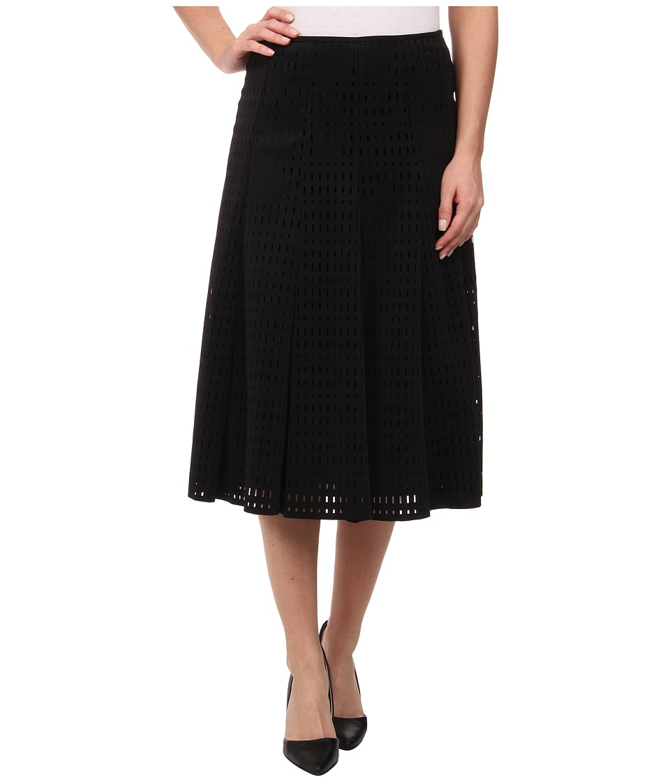 Calvin Klein - Perforated Scuba Midi Skirt (Black) Women's Skirt