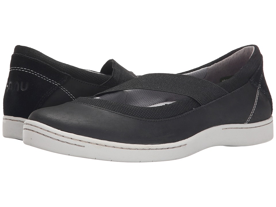 Ahnu - Telegraph Leather (New Black) Women's Slip on Shoes
