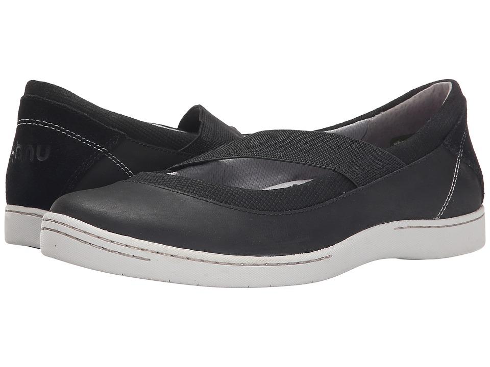Ahnu - Telegraph Leather (New Black) Women's Slip on Shoes