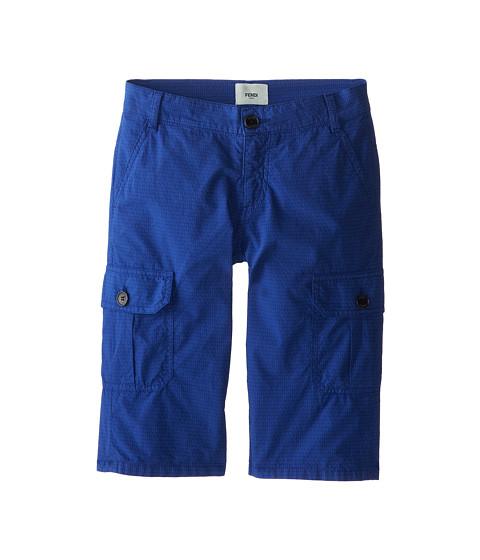 Fendi Kids - Allover Fendi Print Cargo Bermuda Shorts (Little Kids) (Navy) Boy