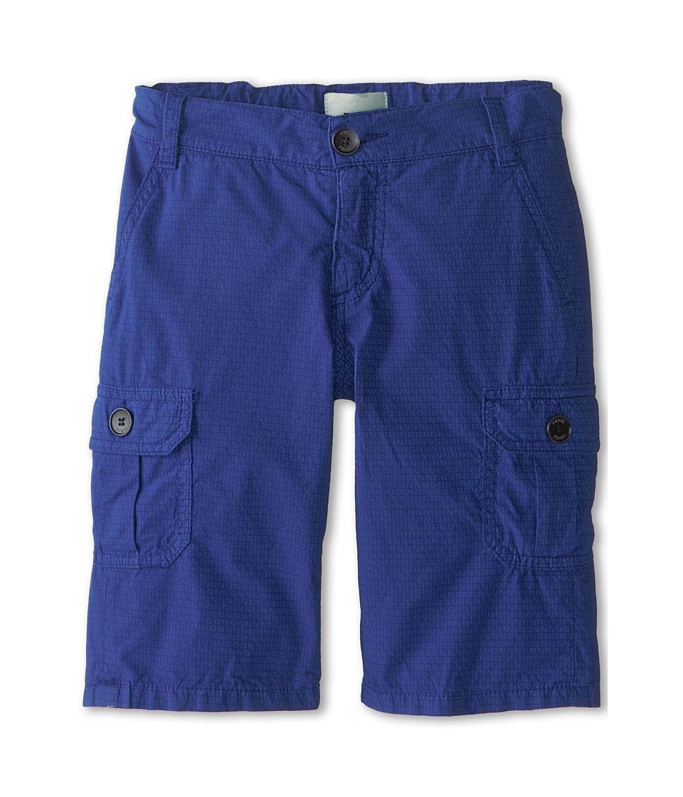 Fendi Kids - Allover Fendi Print Cargo Bermuda Shorts (Toddler) (Navy) Boy's Shorts