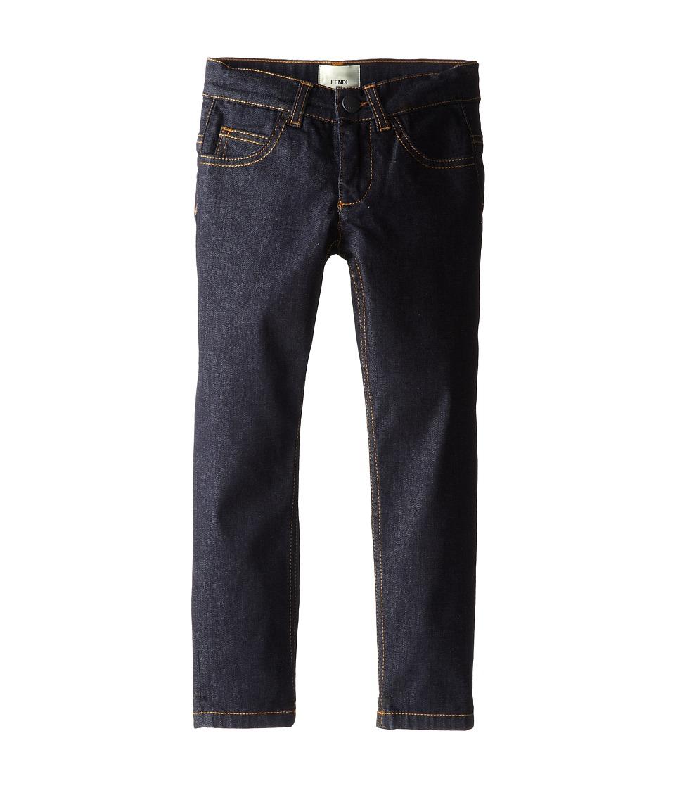 Fendi Kids - Denim Pants w/ Logo On Back (Toddler) (Denim) Boy
