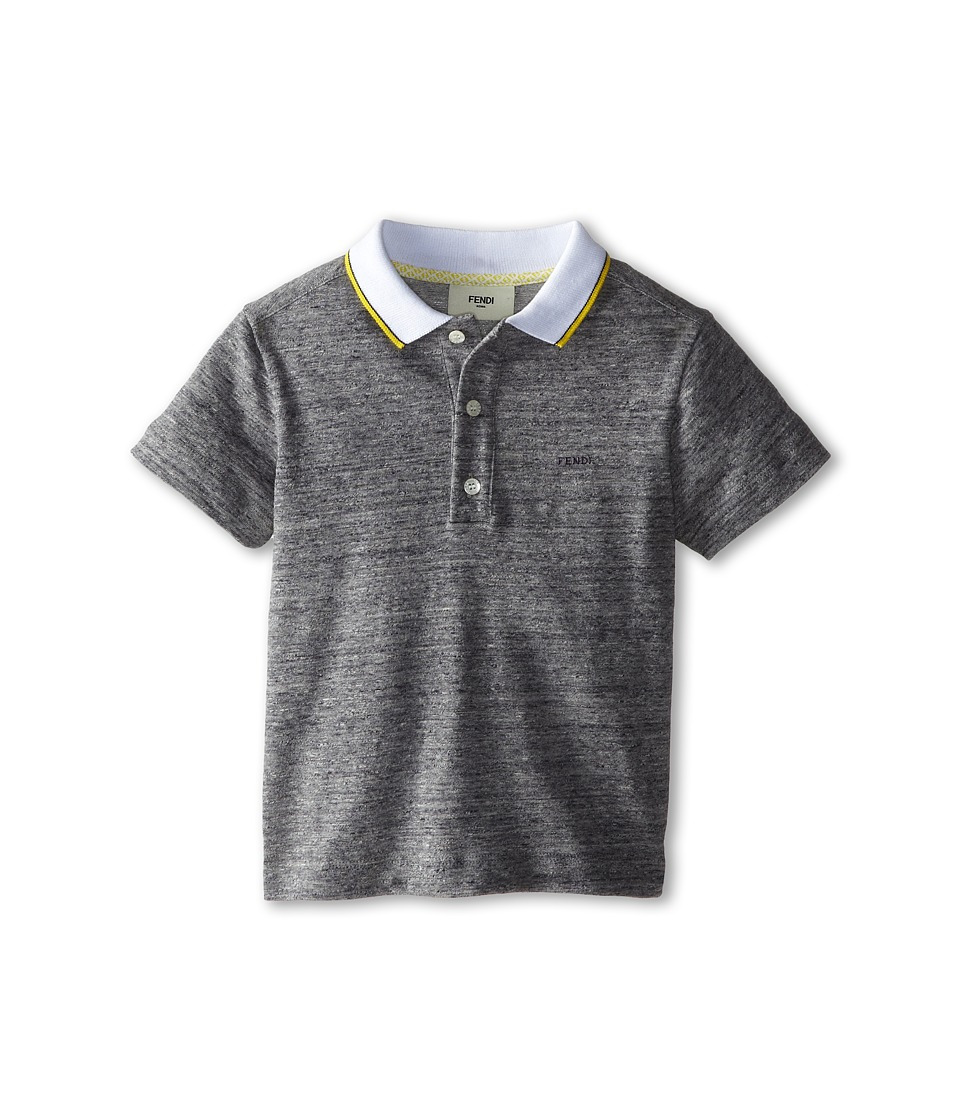 Fendi Kids - Polo w/ Contrast Collar (Toddler) (Grey) Boy's Clothing