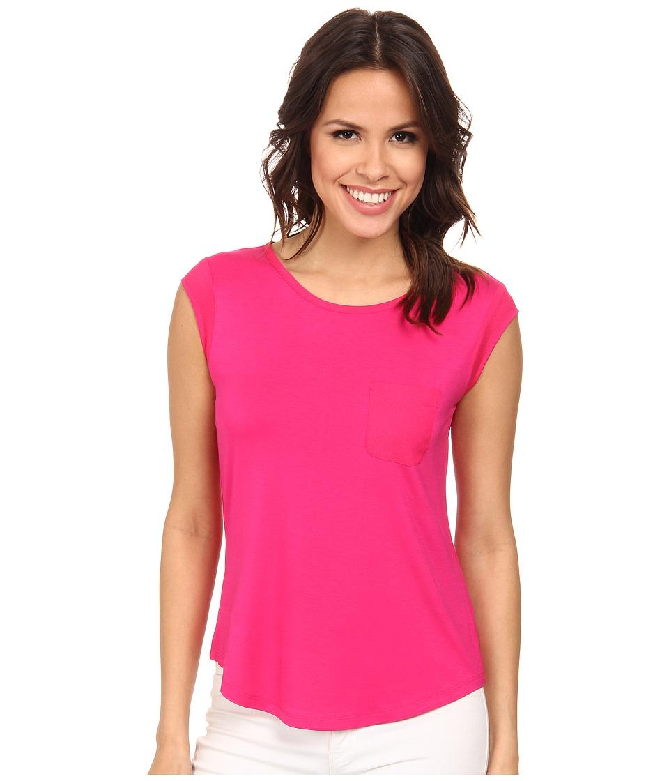 Calvin Klein T-Shirt w/ One-Pocket (Hibiscus) Women