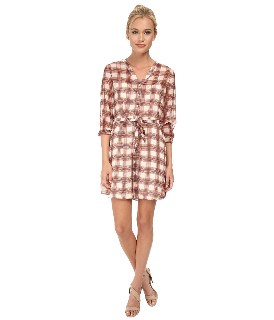 Jack by BB Dakota - Taja Neon Plaid Slit Sleeve Dress (Linen) Women's Dress