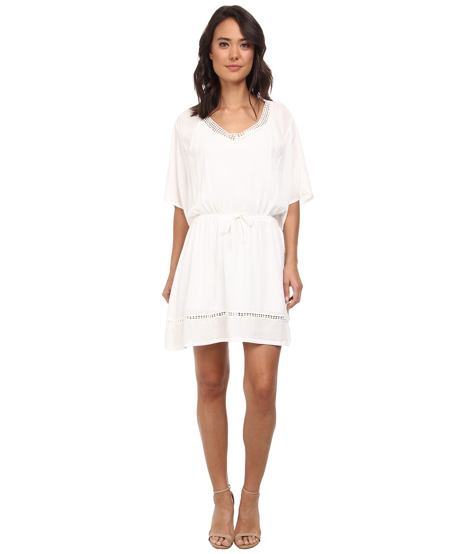Jack by BB Dakota - Hartigan Crinkle Rayon and Lace Dress (Ivory) Women's Dress