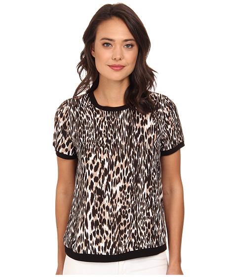Calvin Klein - Short Sleeve Printed Pullover (Neutral Multi) Women
