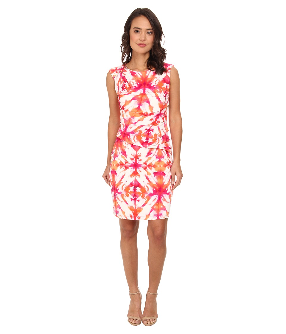 Calvin Klein - Wrap Dress w/ Button Shoulder (Tart Multi) Women's Dress