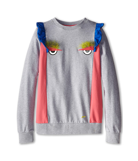 Fendi Kids - Sweatshirt w/ Eyes (Big Kids) (Grey) Girl