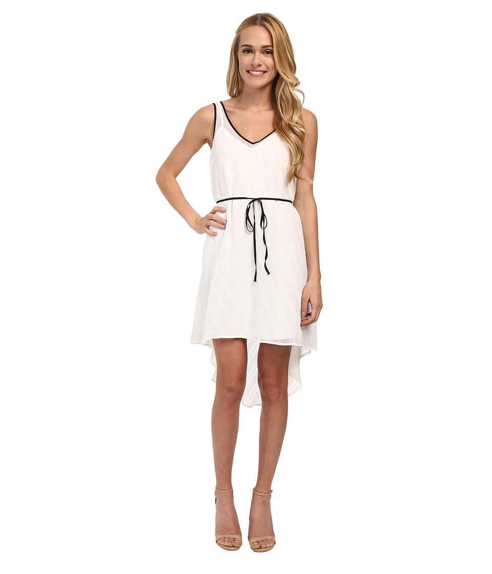 Jack by BB Dakota - Ibby Diagonal Stripe Chiffon Dress (White) Women's Dress
