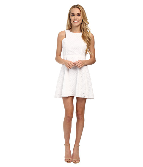 Jack by BB Dakota - Sidra Eyelet Dress (White) Women's Dress
