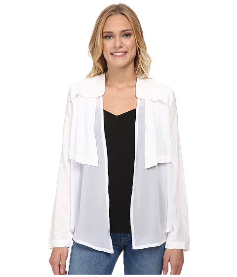 Jack by BB Dakota - Raeburn Challi and Chiffon Jacket (White) Women's Blouse