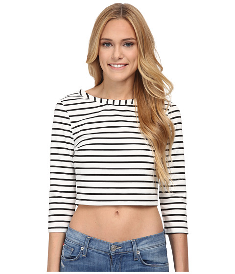 Jack by BB Dakota - Corsbie Stripe Ponte Top (White) Women