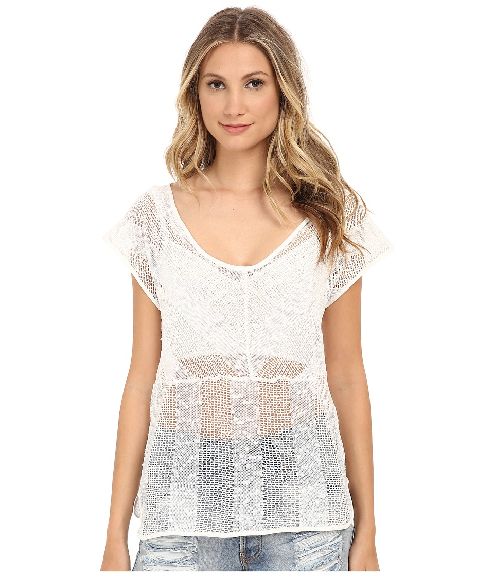 Jack by BB Dakota Senna Striped Mesh At Top Bodice (Linen) Women