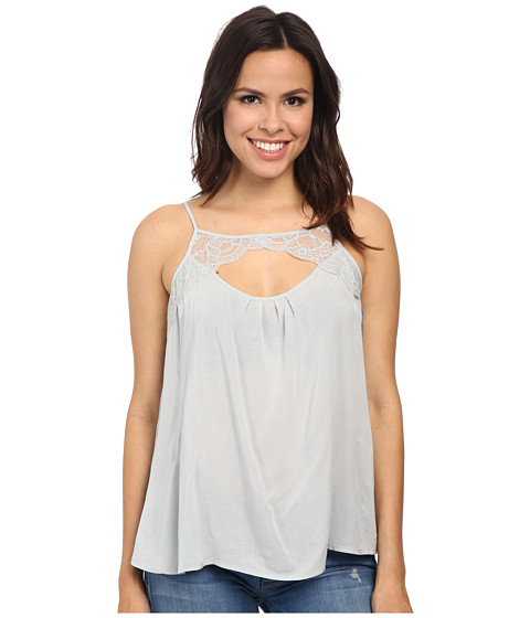 Jack by BB Dakota - Reeve Challi Top w/ Scallop Trim (Stone Grey) Women's Sleeveless