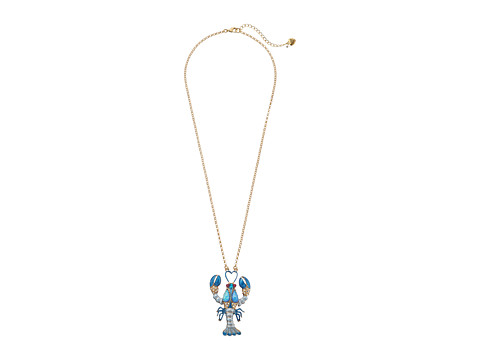 Betsey Johnson - Into The Blue Lobster Long Necklace (Blue Multi) Necklace
