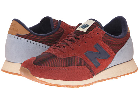 New Balance Classics - 620 - Redwoods (Red/Grey) Women's Shoes