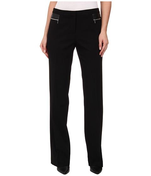 Calvin Klein - Pants w/ Waist Zips (Black) Women