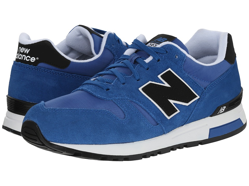 New Balance Classics - 565 - Suede/Ripstop (Blue) Men's Shoes