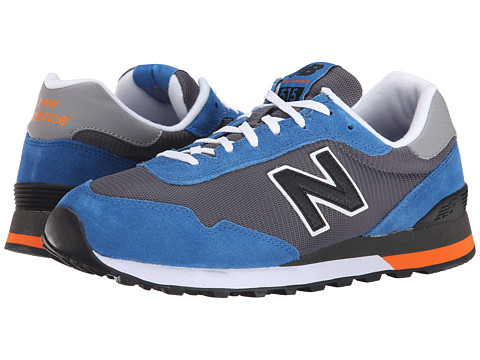 New Balance Classics - 515 - Suede/Mesh (Grey/Blue) Men's Shoes