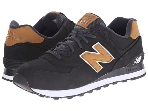New Balance Classics - 574 - Lux (Black) Men's Shoes