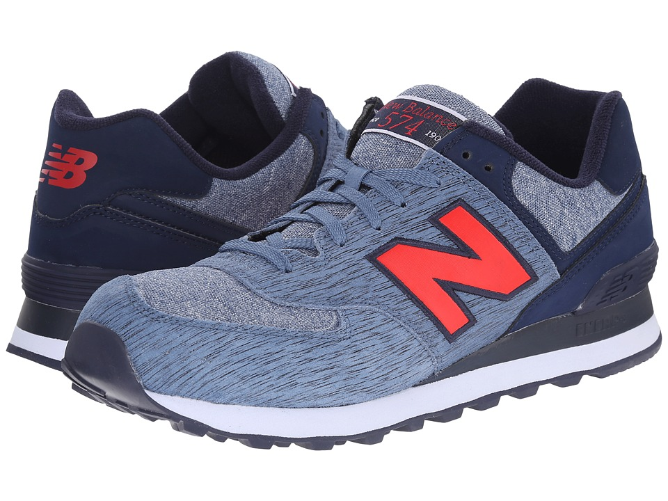 New Balance - 574 - Sweatshirt (Red/Blue) Men's Shoes