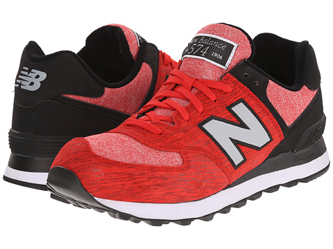 New Balance Classics - 574 - Sweatshirt (Red/Black) Men's Shoes