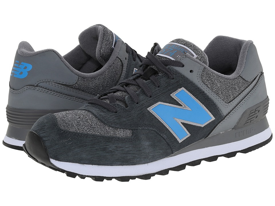 New Balance - 574 - Sweatshirt (Black/Grey) Men's Shoes