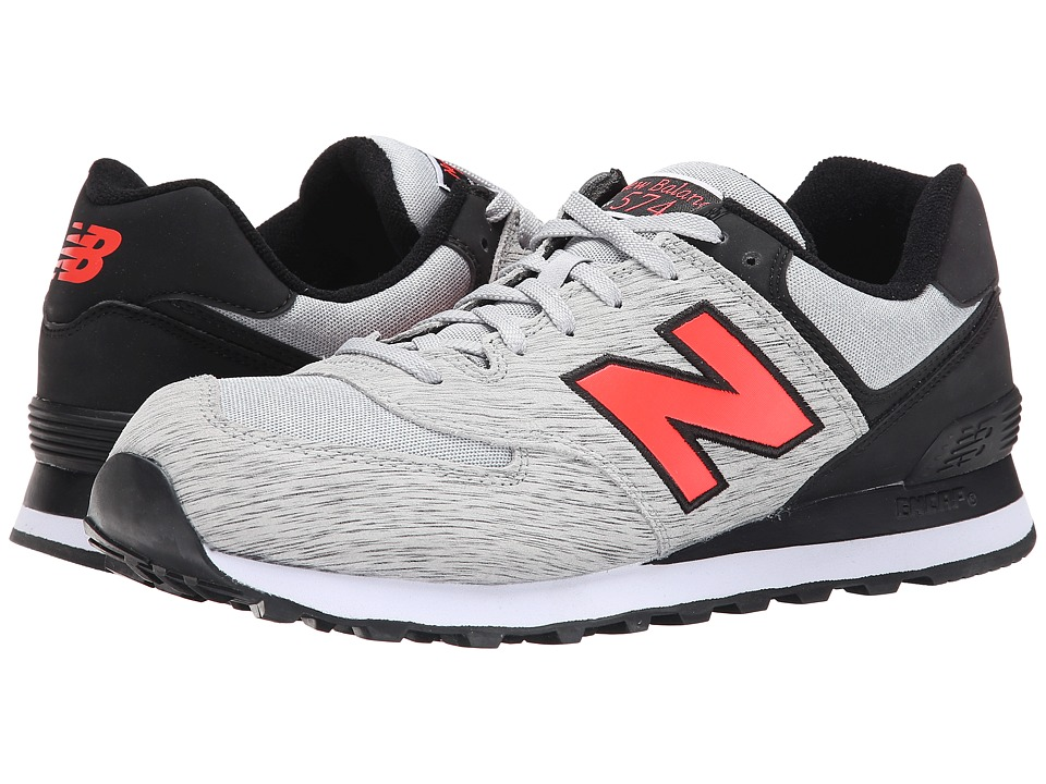 New Balance - 574 - Sweatshirt (Grey/Black) Men's Shoes