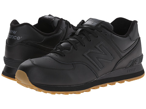 New Balance Classics - 574 - Leather (Black) Men