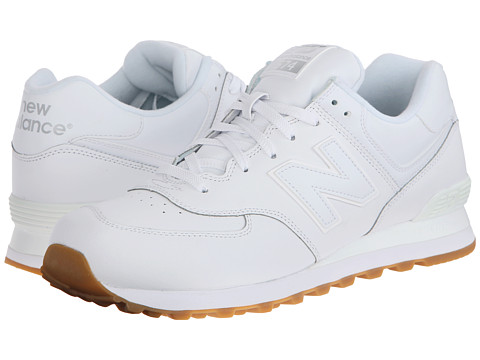 New Balance Classics - 574 - Leather (White) Men