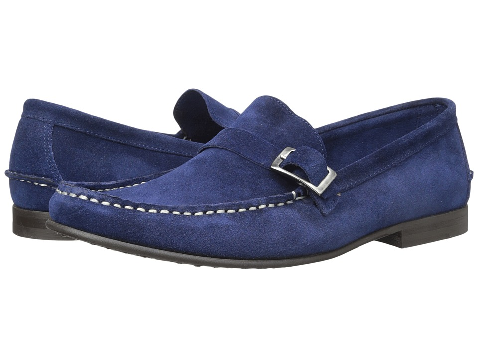 Kenneth Cole Reaction - Down 2 The Wire (Blue) Men's Slip on Shoes