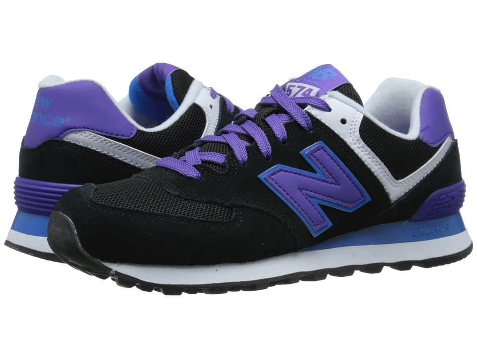 New Balance Classics - 574 - Core Plus (Black/Purple) Women's Shoes