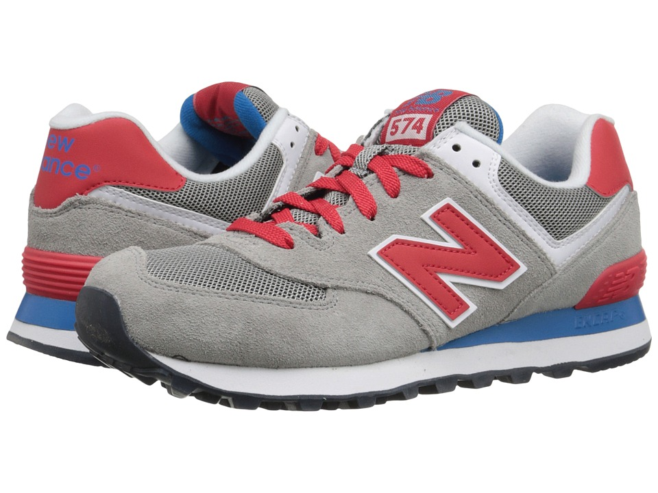 New Balance Classics 574 Core Plus (Grey/Red) Women