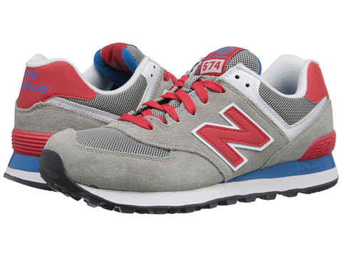 New Balance Classics - 574 - Core Plus (Grey/Red) Women's Shoes