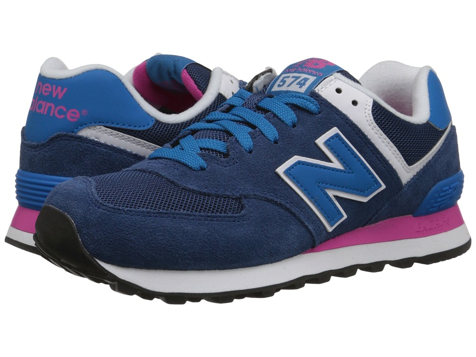 New Balance Classics - 574 - Core Plus (Blue/Pink) Women's Shoes