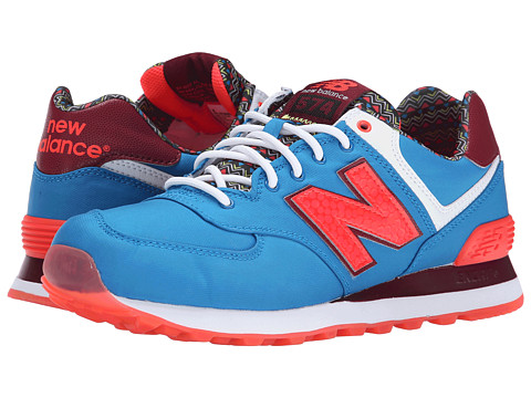 New Balance Classics - 574 - Street Beat (Blue/Orange) Women