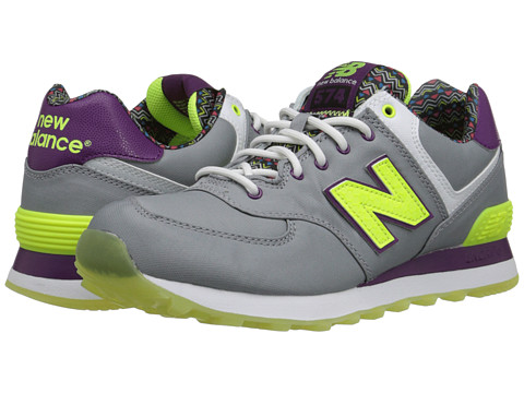New Balance Classics - 574 - Street Beat (Grey/Yellow) Women's Shoes