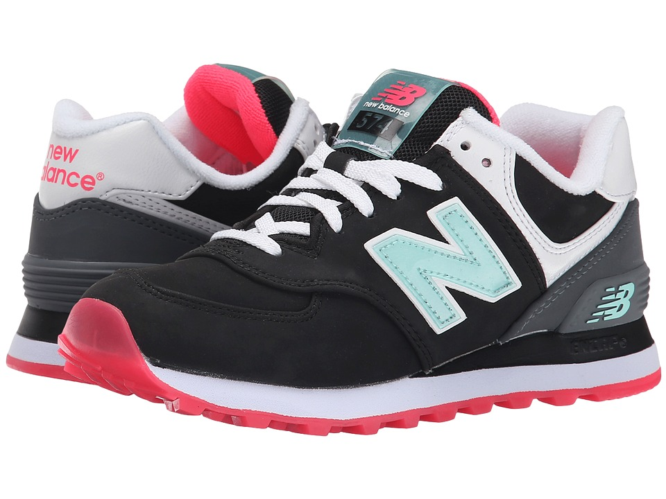 New Balance Classics - 574 - Glacial (Black/Grey) Women's Shoes